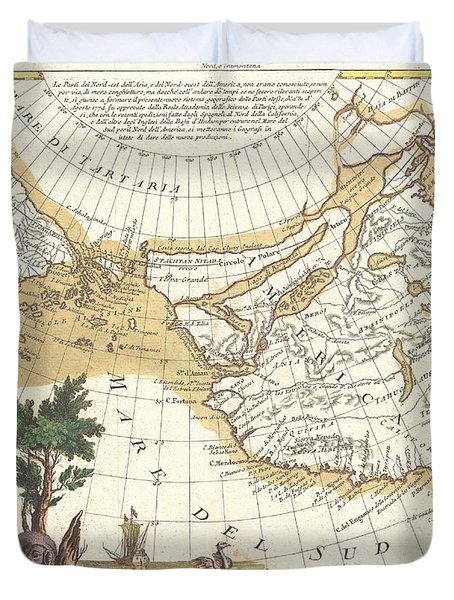 1776 Zatta Map Of California And The Western Parts Of North America Duvet Cover