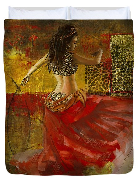 Abstract Belly Dancer 6 Duvet Cover by Corporate Art Task Force