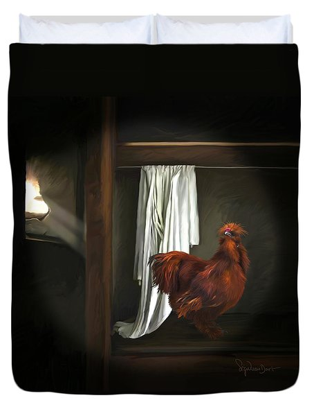 18. Red Rooster Duvet Cover