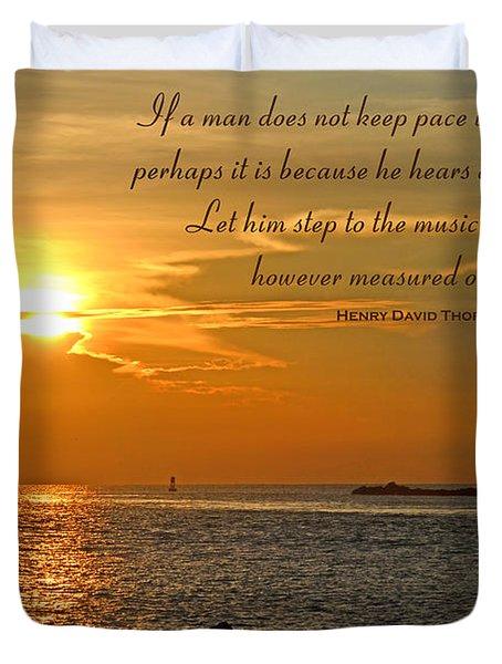 180- Henry David Thoreau Duvet Cover