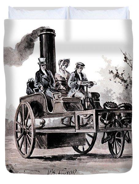 1800s 1827 Hancocks Steam Wagon A Steam Duvet Cover