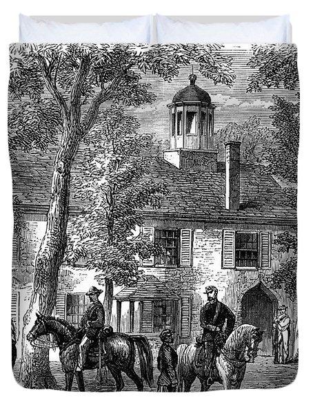 1800s 1860s Fairfax Courthouse Virginia Duvet Cover