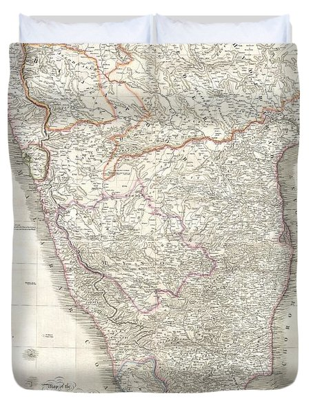 1838 Wyld Wall Map Of India Duvet Cover by Paul Fearn