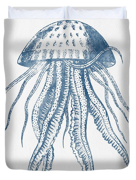 1844 Octopus Ink Drawing Duvet Cover by Aged Pixel