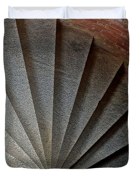 1861 Fort Point Tower Stairs San Francisco Bay Duvet Cover by Bill Owen