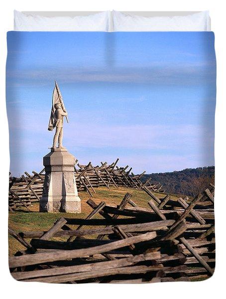 1862 September 17th Statue On Bloody Duvet Cover