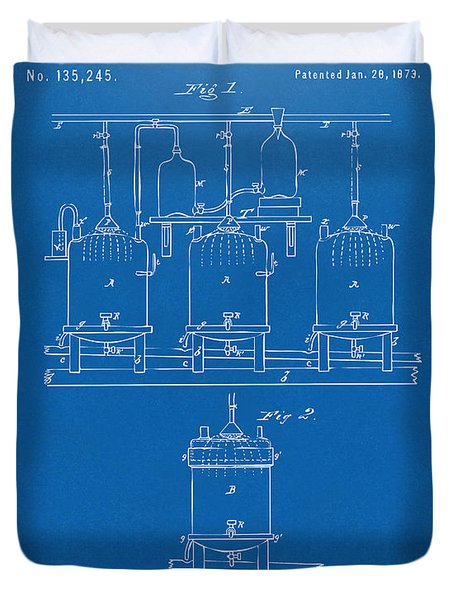 1873 Brewing Beer And Ale Patent Artwork - Blueprint Duvet Cover