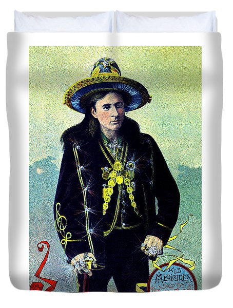 1880 Lighthall's Medicine Show Duvet Cover
