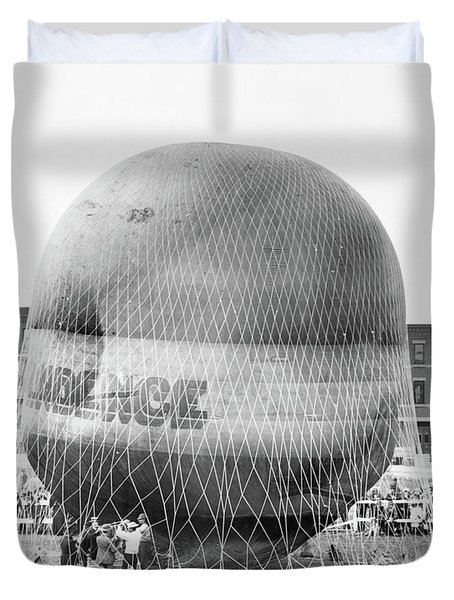 1880s Balloon Independence Preparing Duvet Cover