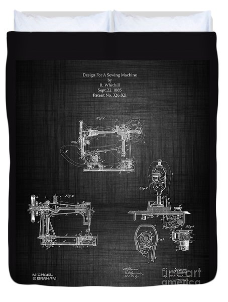 1885 Singer Sewing Machine Duvet Cover