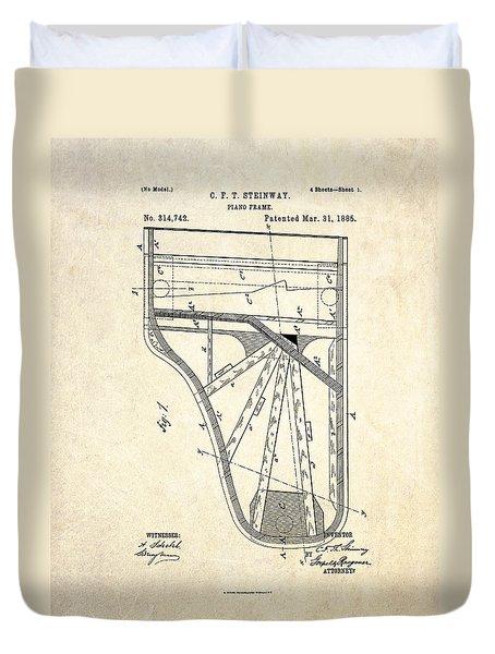 1885 Steinway Piano Frame Patent Art Duvet Cover