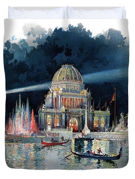 1890s Night In Grand Court Of World Duvet Cover