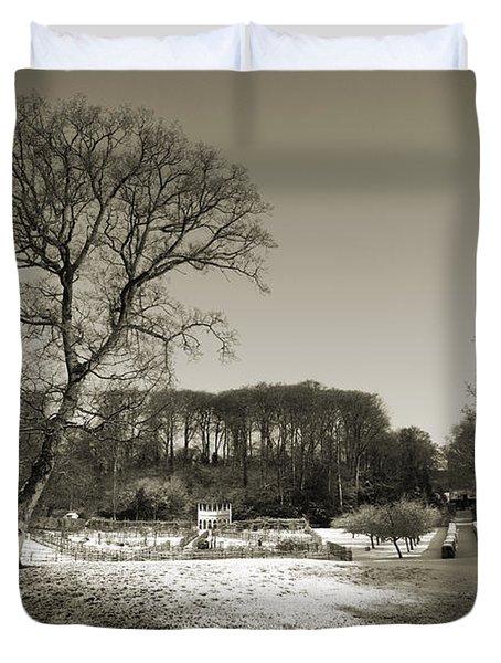 18th Century Winter Duvet Cover by Anne Gilbert