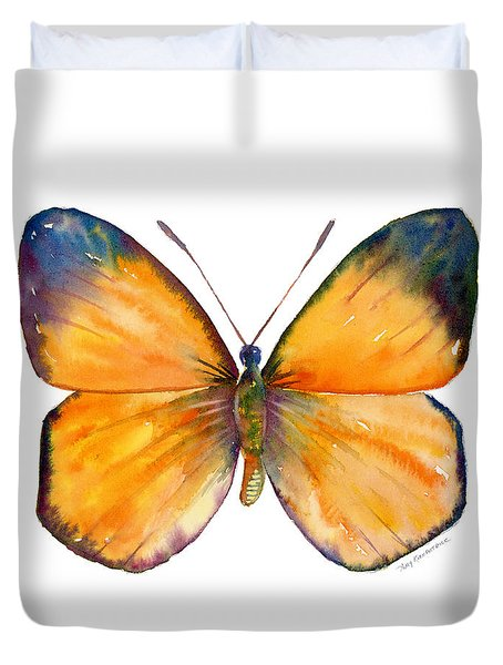19 Delias Anuna Butterfly Duvet Cover