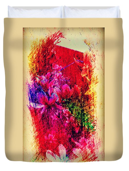 Magnolias In Abstract Duvet Cover