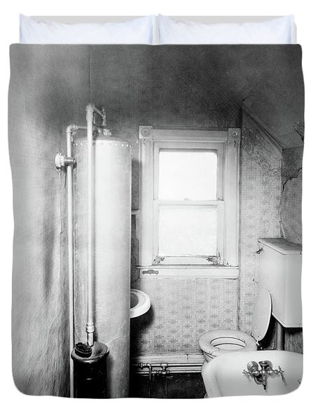 1900s Gas Water Heater In Narrow Duvet Cover