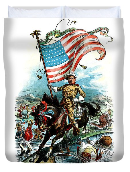 1902 Rough Rider Teddy Roosevelt Duvet Cover by Historic Image