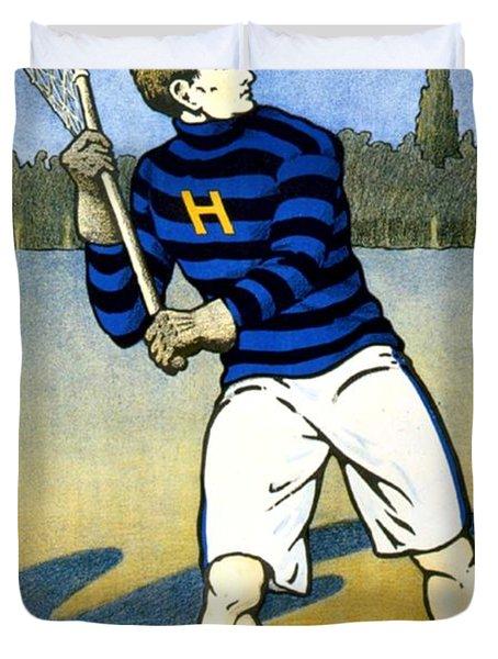 1905 - Johns Hopkins University Lacrosse Poster - Color Duvet Cover