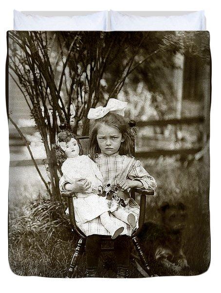 1905 Portrait Of A Cranky Girl Duvet Cover