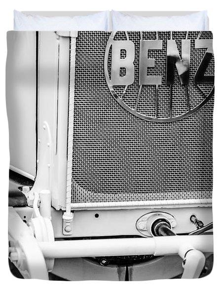 1908 Benz Prince Heinrich Two Seat Race Car Grille Emblem -1696bw Duvet Cover by Jill Reger