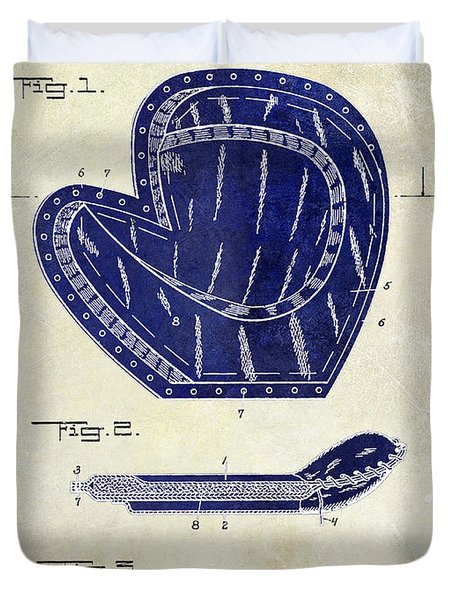 1910 Baseball Patent Drawing 2 Tone Duvet Cover