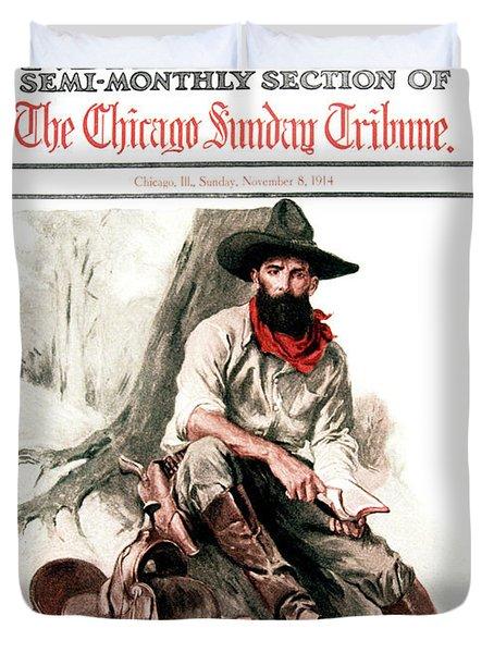 1910s 1914 Sunday Magazine Chicago Duvet Cover