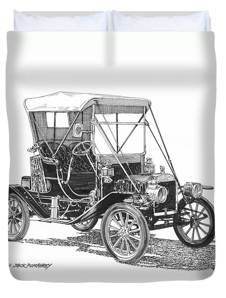 1911 Ford Model T Tin Lizzie Duvet Cover by Jack Pumphrey