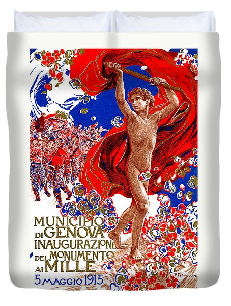 1915 Unified Italy Poster Duvet Cover by Historic Image
