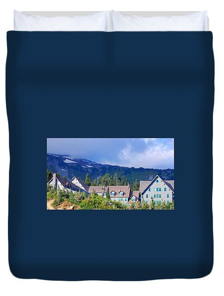 1916 Paradise Inn. Mount Rainier National Park Duvet Cover