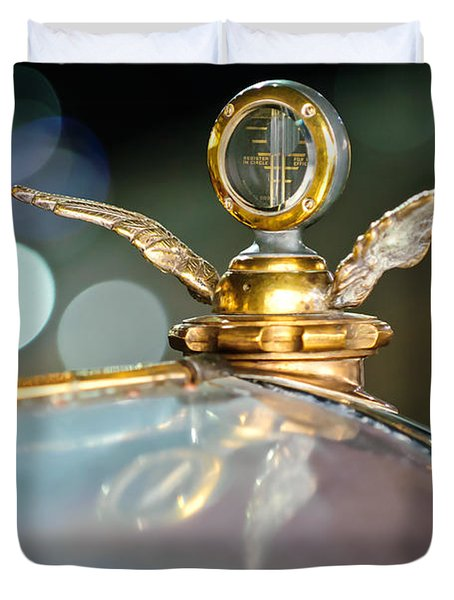 1921 Bentley Motometer Hood Ornament -0471c Duvet Cover