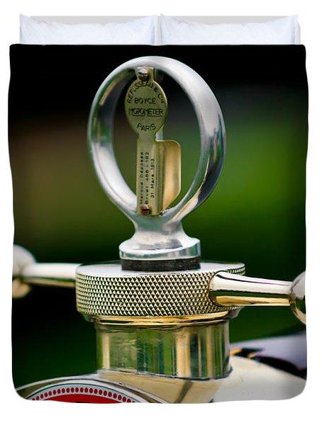 1923 Bugatti Type 23 Brescia Lavocat Et Marsaud Hood Ornament Duvet Cover by Jill Reger
