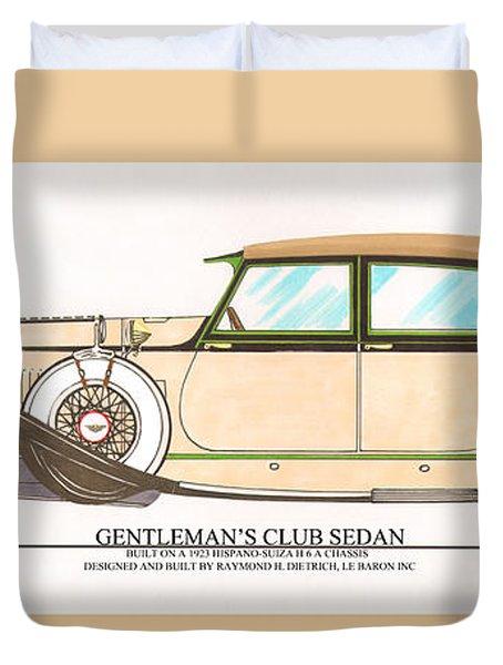 1923 Hispano Suiza Club Sedan By R.h.dietrich Duvet Cover by Jack Pumphrey