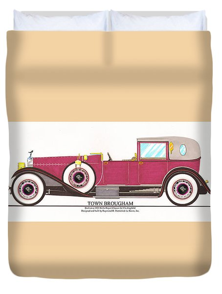 Rolls Royce By Raymond H Dietrich Duvet Cover by Jack Pumphrey