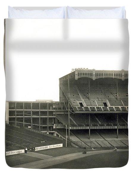 1923 Yankee Stadium Duvet Cover by Underwood Archives