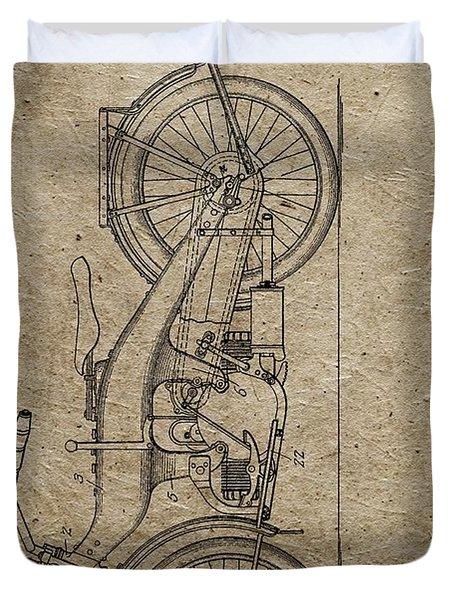 1924 Harley Davidson Patent Duvet Cover