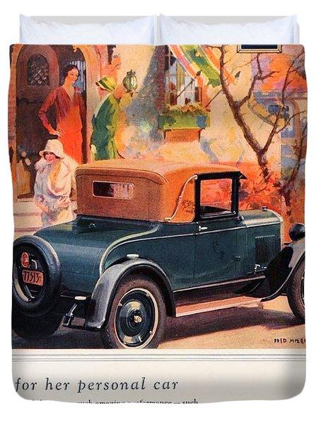 1927 - Chevrolet Advertisement - Color Duvet Cover