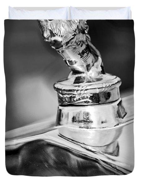 1927 Franklin Sedan Hood Ornament 2 Duvet Cover by Jill Reger