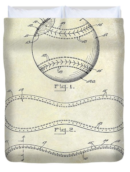 1928 Baseball Patent Drawing  Duvet Cover