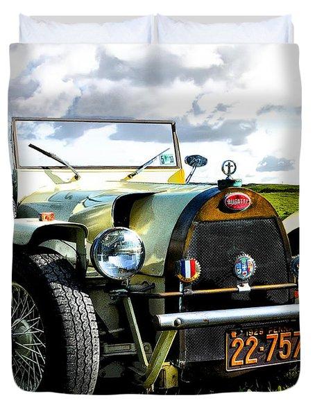 1929 Bugatti Duvet Cover by Bill Cannon