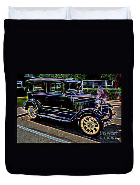 1929 Ford Model A - Antique Car Duvet Cover by Gary Whitton