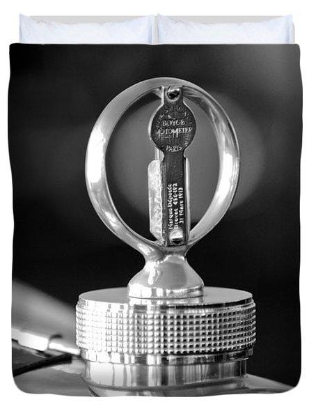 1930 Bugatti Hood Ornament Duvet Cover by Jill Reger