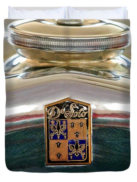 1930 Desoto K Hood Ornament Emblem Duvet Cover by Jill Reger