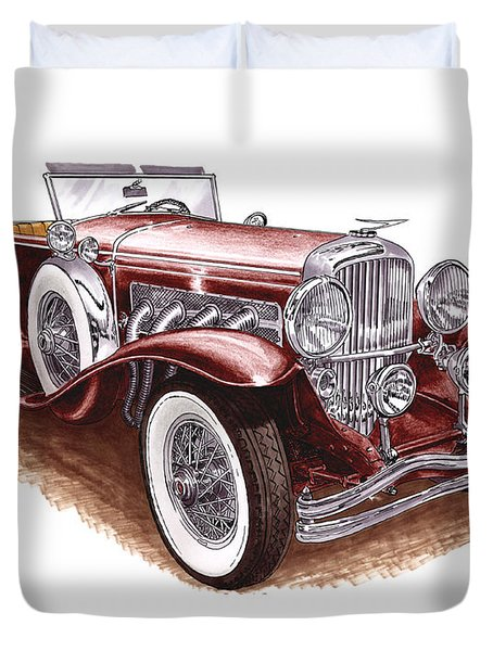 1930 Dusenberg Model J Duvet Cover