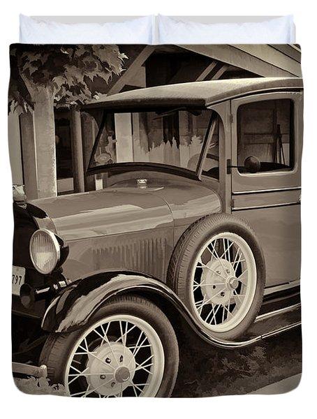 1930 Ford Panel Truck Duvet Cover