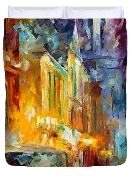 1930's Duvet Cover by Leonid Afremov