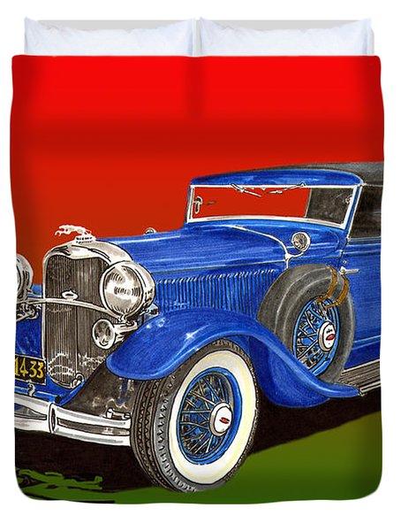 1931 Lincoln K Four Door Convertible Duvet Cover by Jack Pumphrey