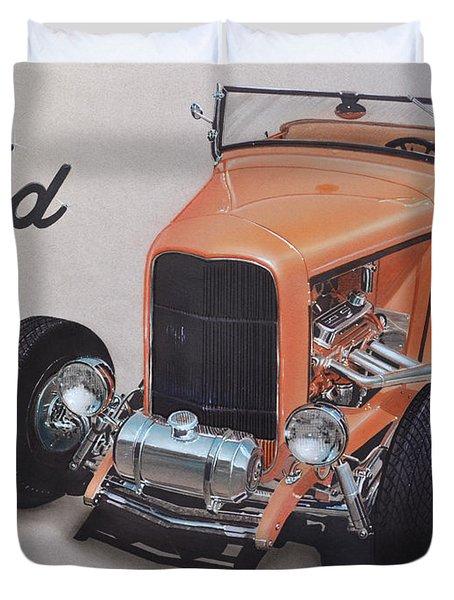 1932 Ford Duvet Cover by Paul Kuras