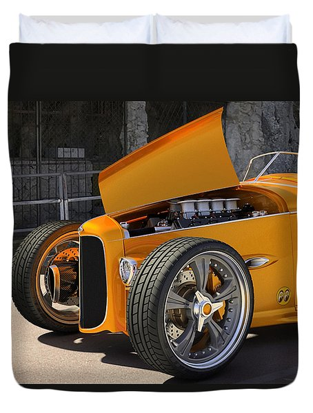 Duvet Cover featuring the digital art 1932 Hot Rod by Marvin Blaine
