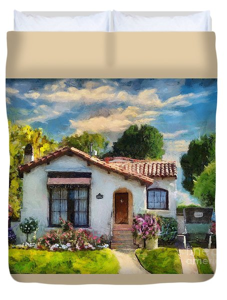 Alameda 1932  Spanish Beauty Duvet Cover by Linda Weinstock