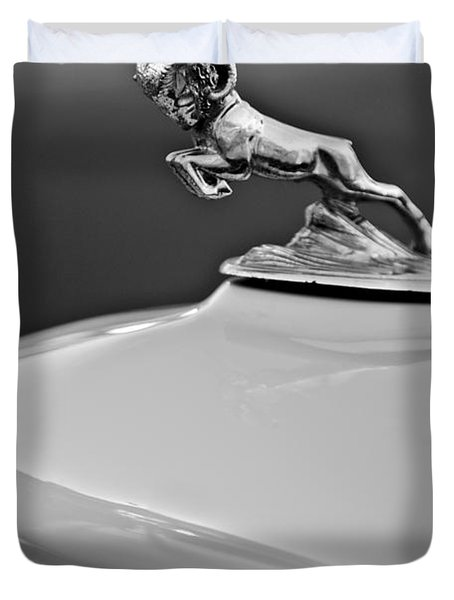 1933 Dodge Ram Hood Ornament 2 Duvet Cover by Jill Reger
